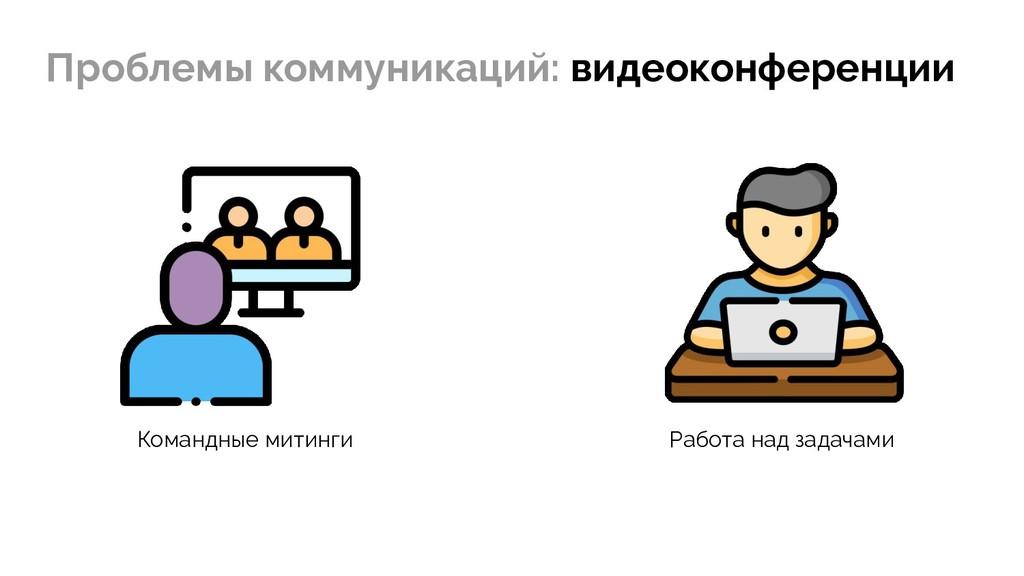 Проблемы коммуникаций: видеоконференции Командн...