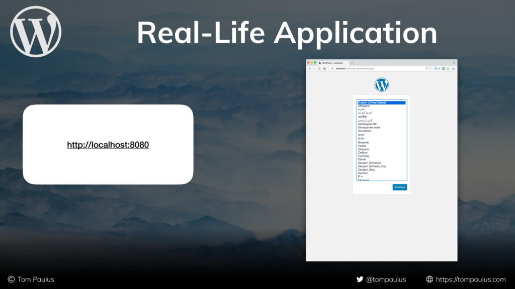 Real-Life Application © Tom Paulus @tompaulus h...
