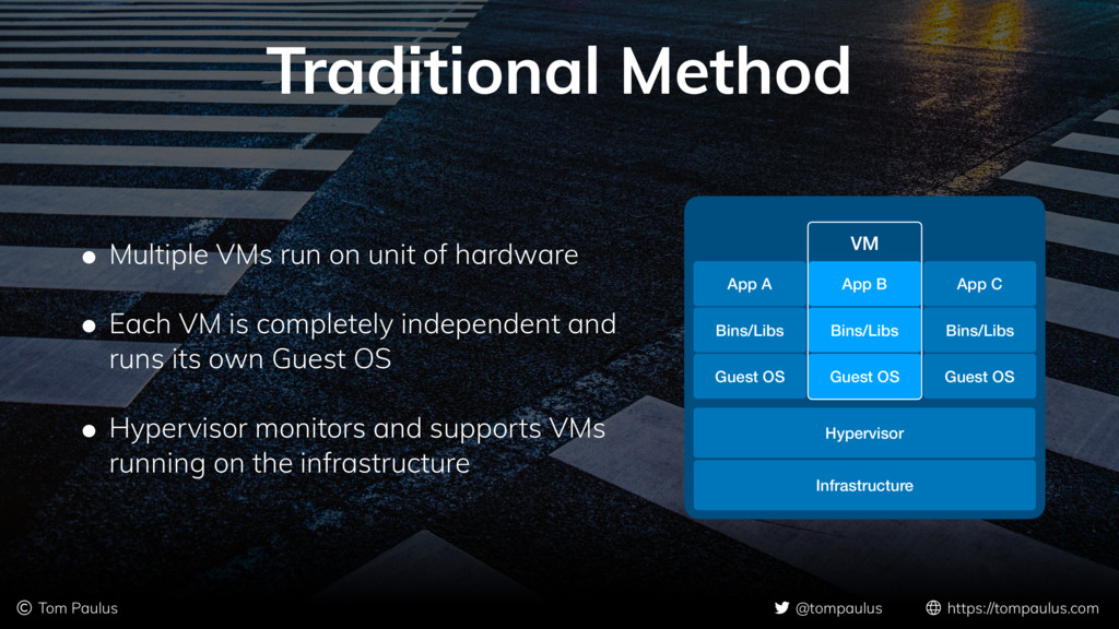 Traditional Method • Multiple VMs run on unit o...