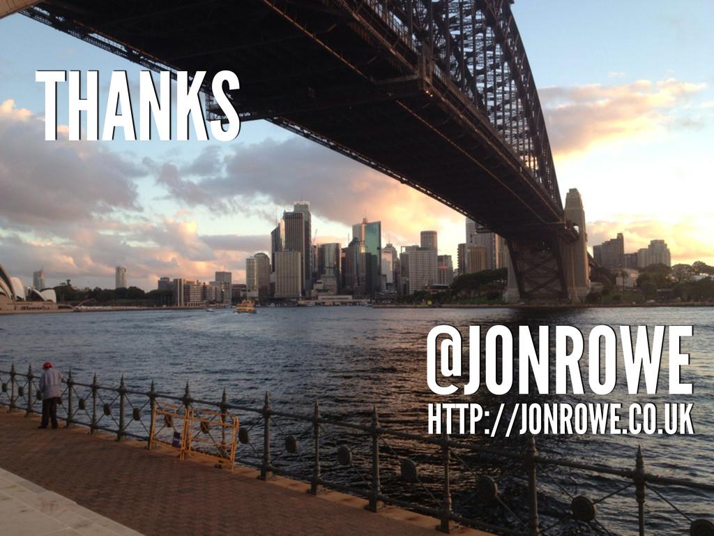 THANKS @JONROWE HTTP://JONROWE.CO.UK