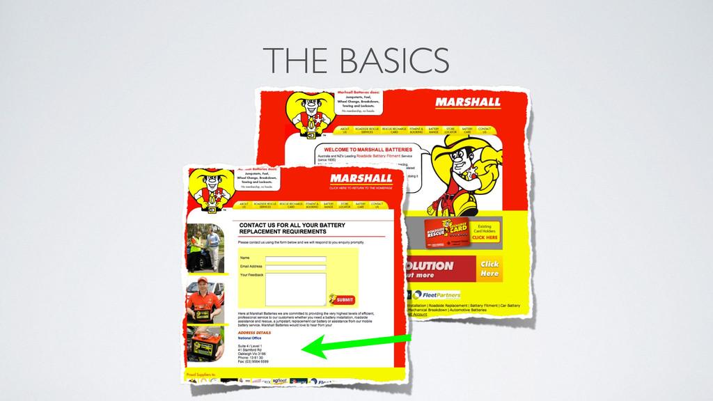 THE BASICS !