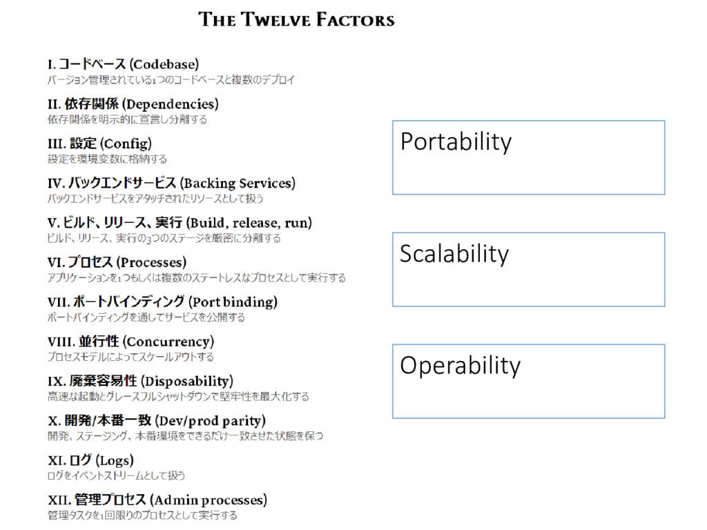Portability Scalability Operability
