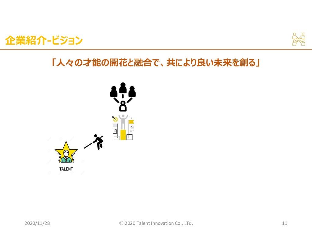 企業紹介-ビジョン 2020/11/28 ©︎ 2020 Talent Innovation ...