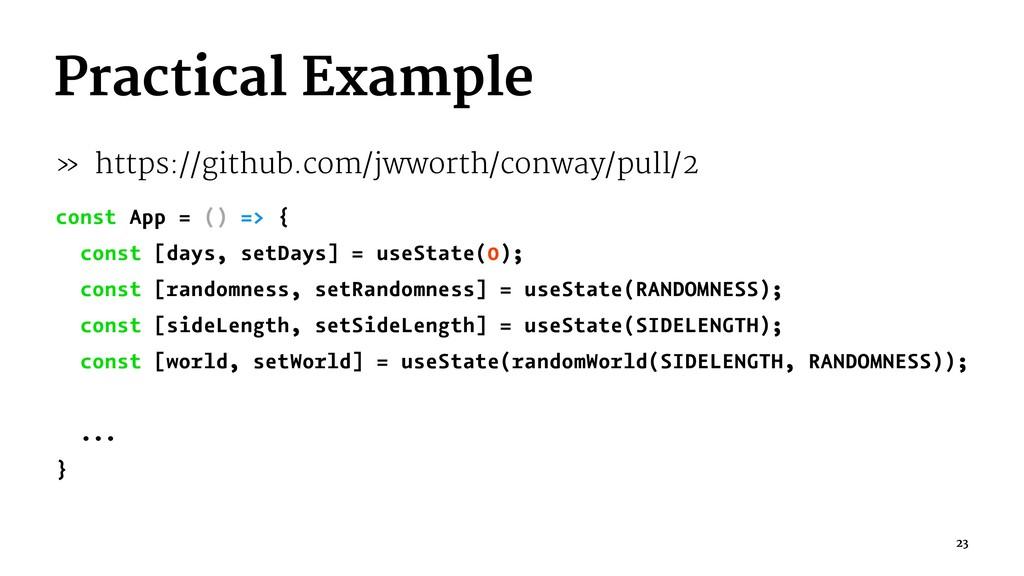 Practical Example » https://github.com/jwworth/...
