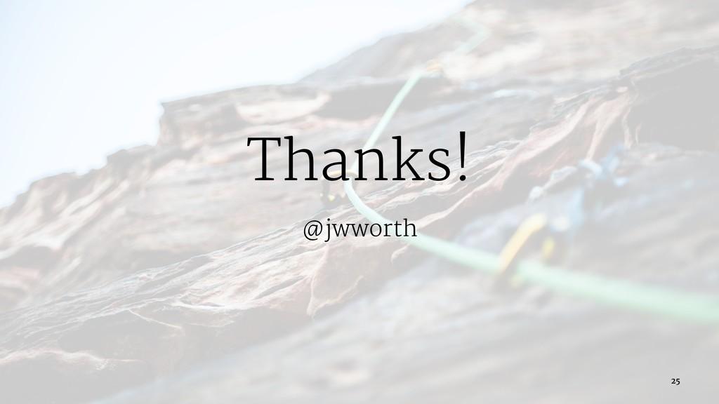 Thanks! @jwworth 25