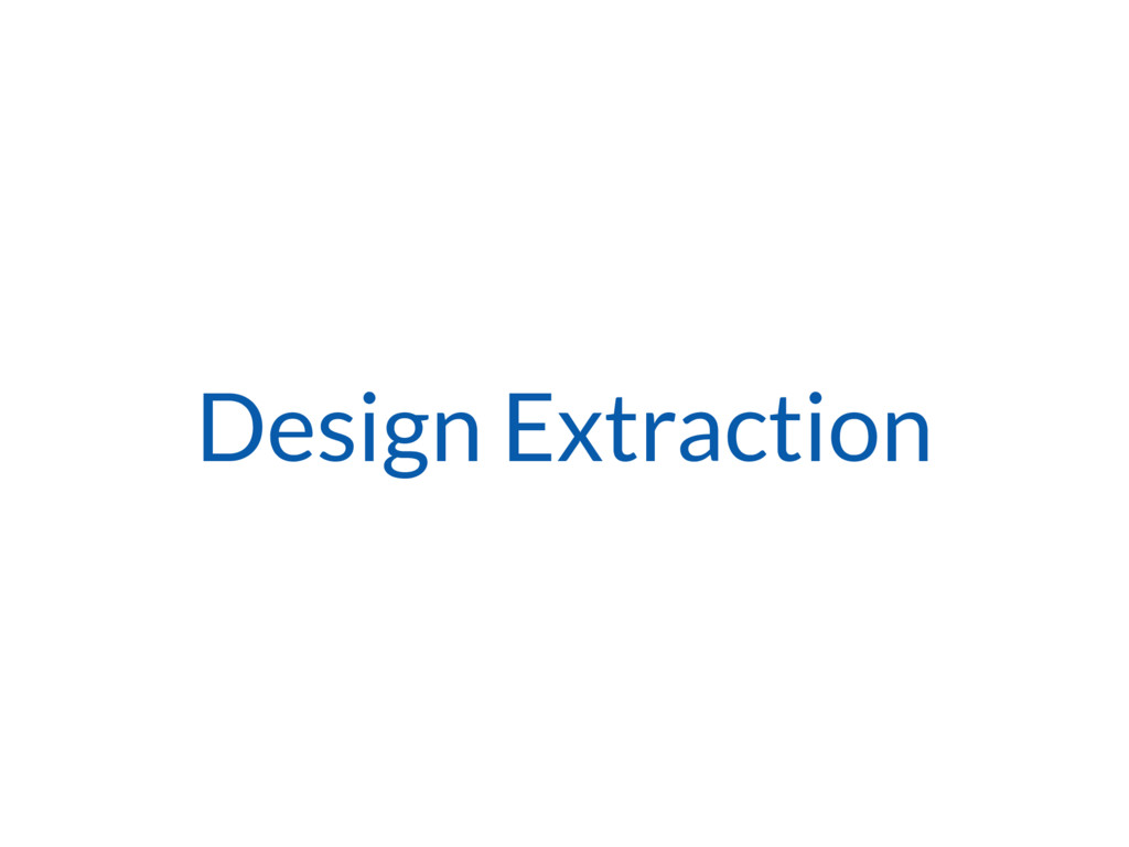 Design Extraction
