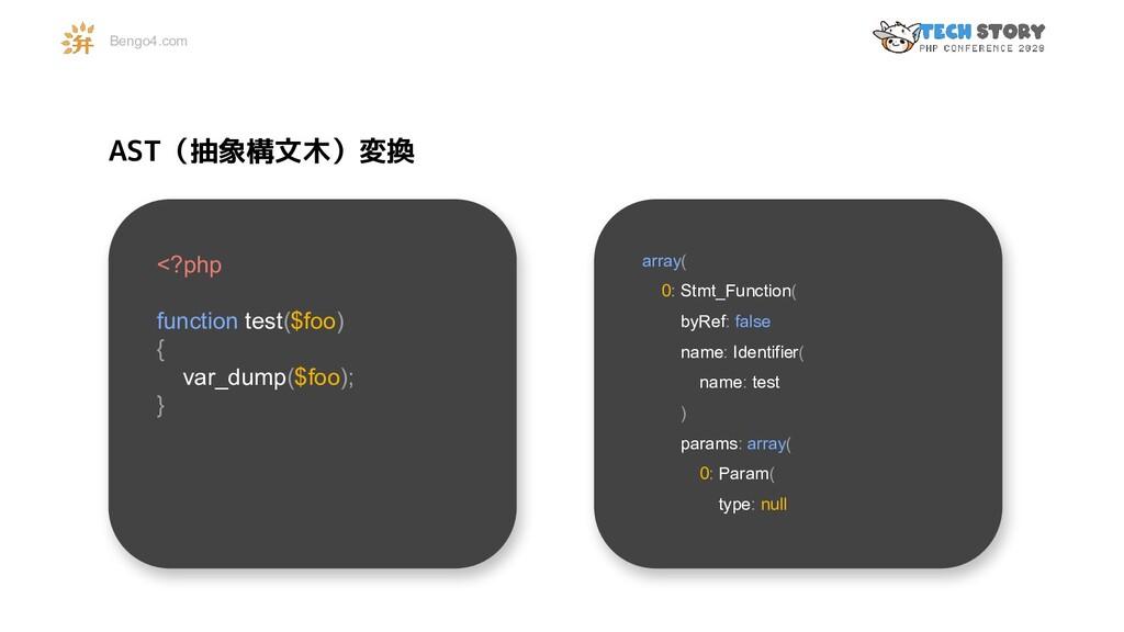 Bengo4.com <?php function test($foo) { var_dump...