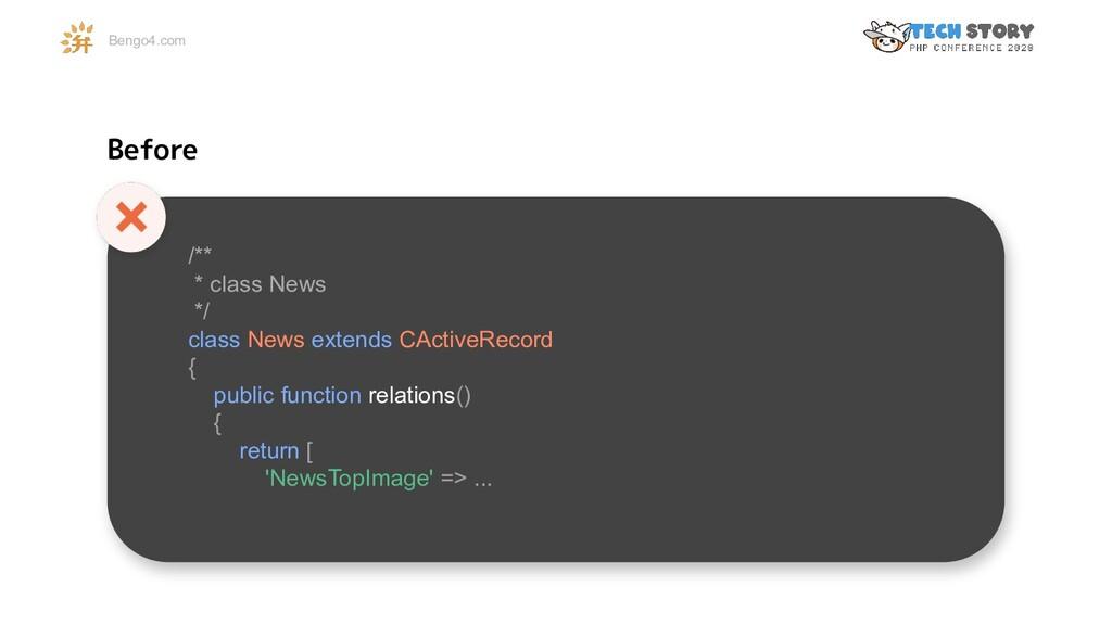 Bengo4.com /** * class News */ class News exten...