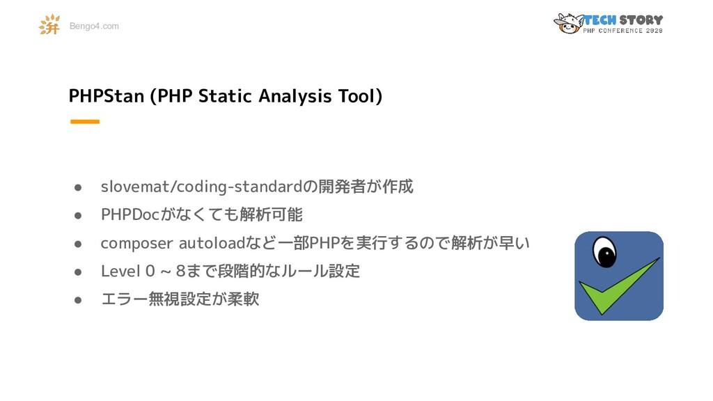 PHPStan (PHP Static Analysis Tool) ● slovemat/c...