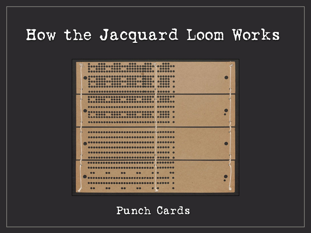 How the Jacquard Loom Works Punch Cards