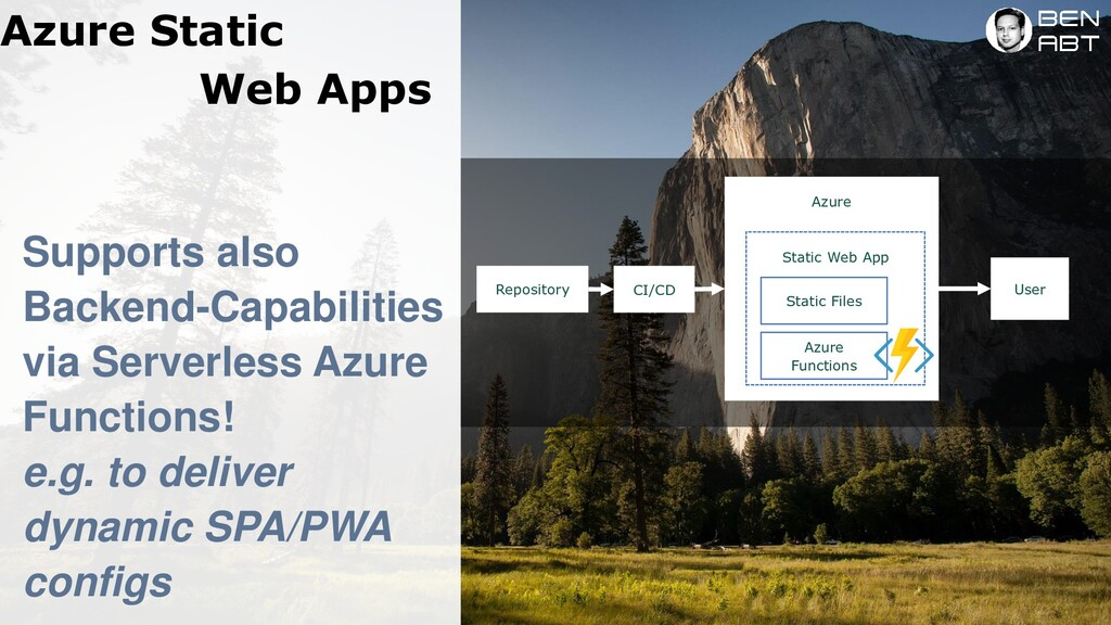 Azure Static Web Apps Supports also Backend-Cap...