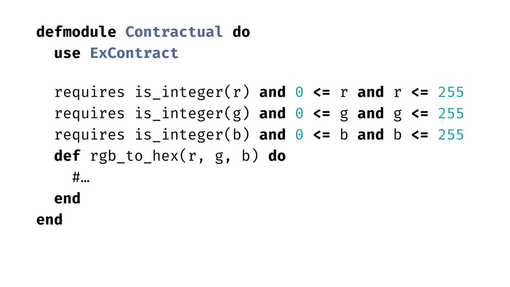 defmodule Contractual do use ExContract require...