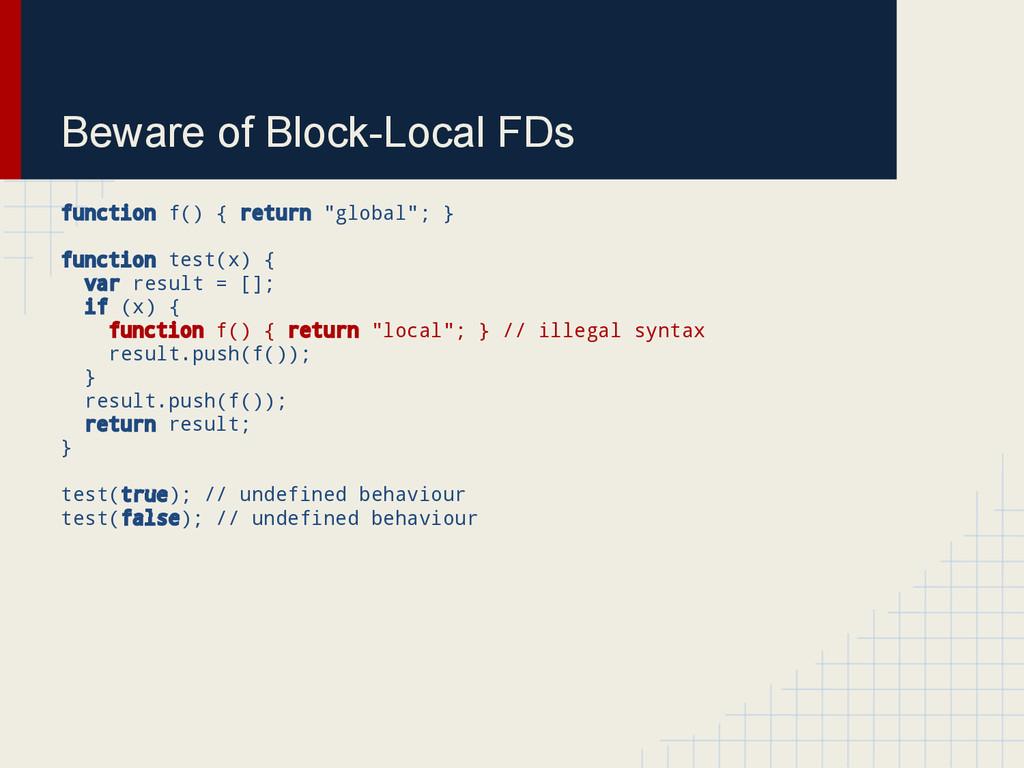 Beware of Block-Local FDs function f() { return...