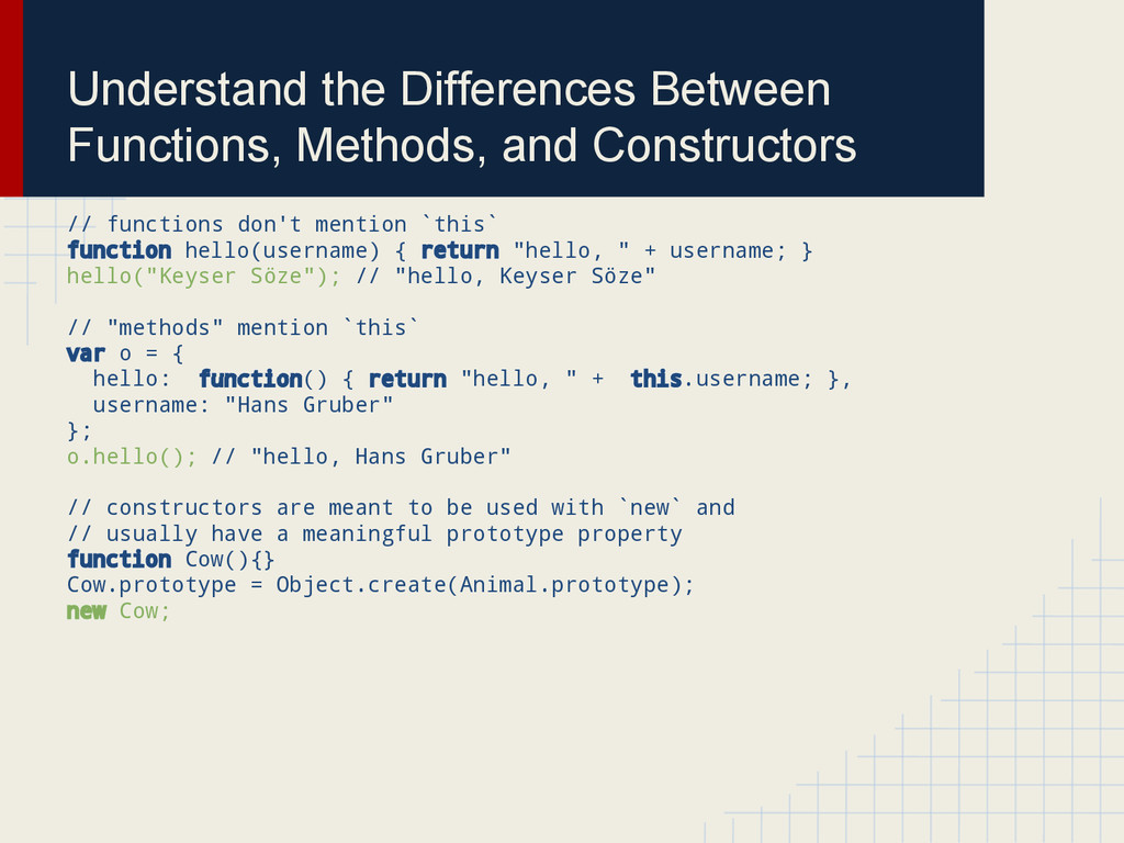 Understand the Differences Between Functions, M...