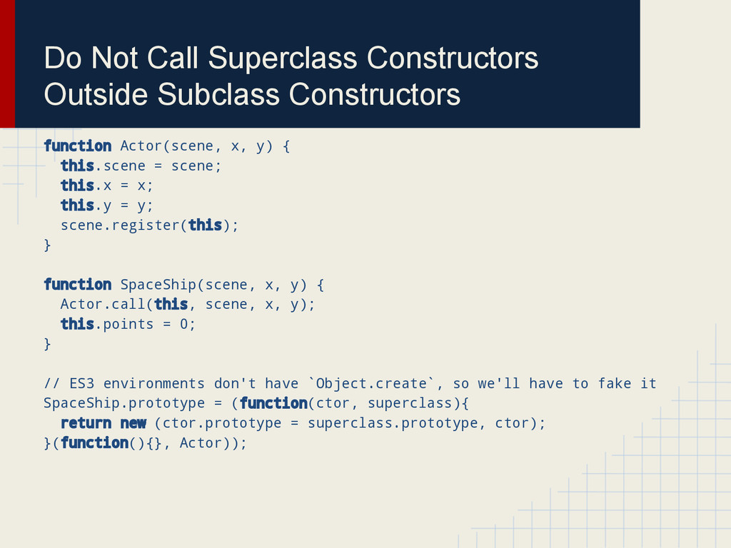 Do Not Call Superclass Constructors Outside Sub...