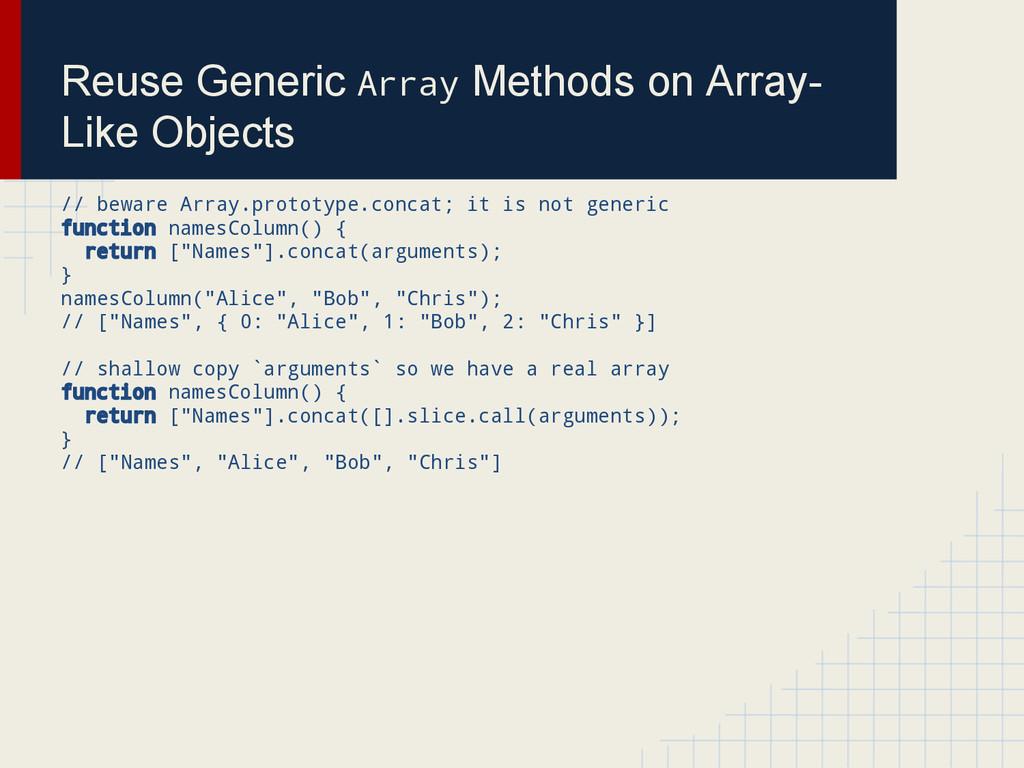 Reuse Generic Array Methods on Array- Like Obje...