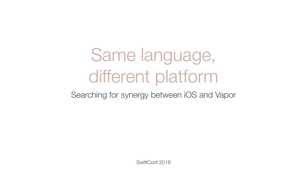 Same language, different platform Searching for...