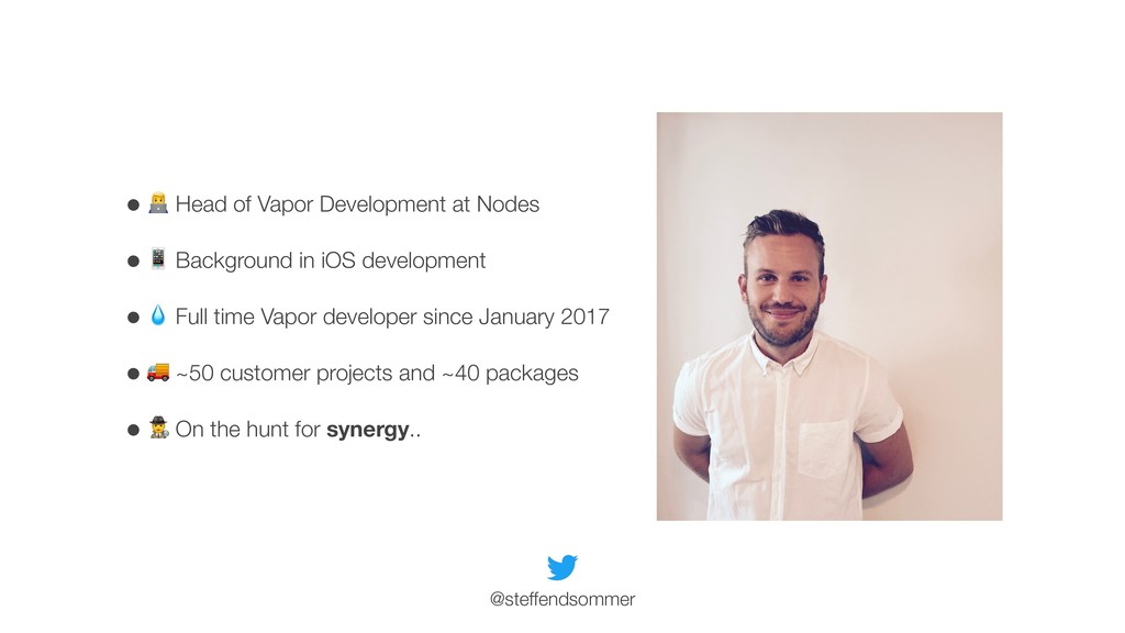 "• "" Head of Vapor Development at Nodes • # Back..."