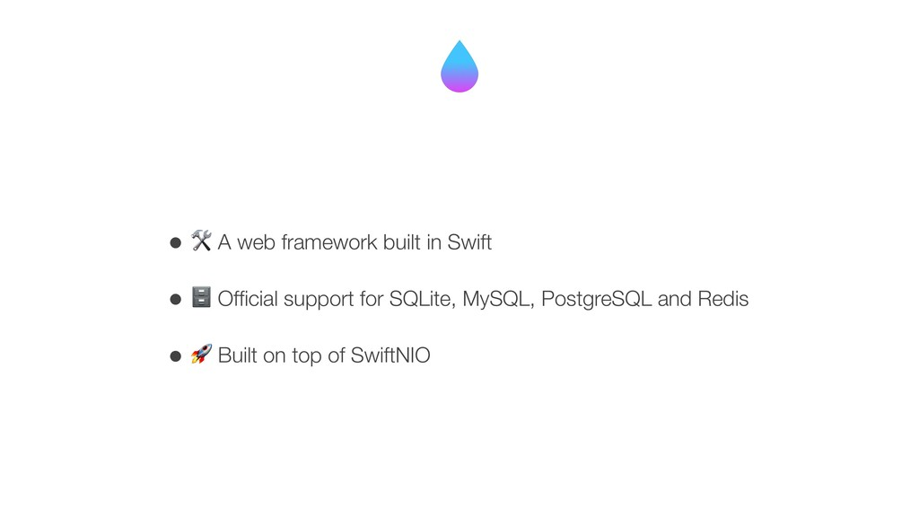 • ( A web framework built in Swift • ) Official ...