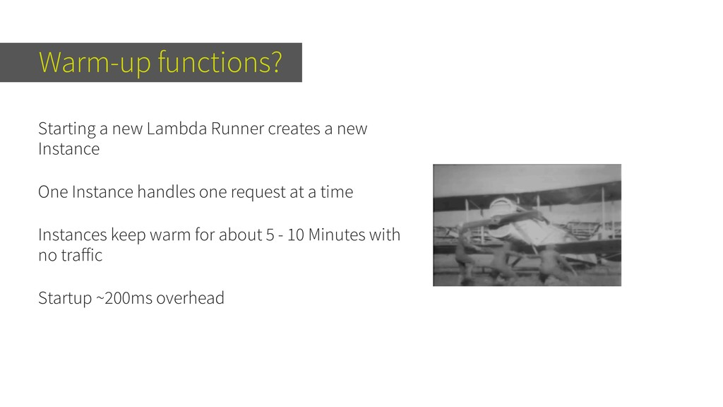 Warm-up functions? Starting a new Lambda Runner...
