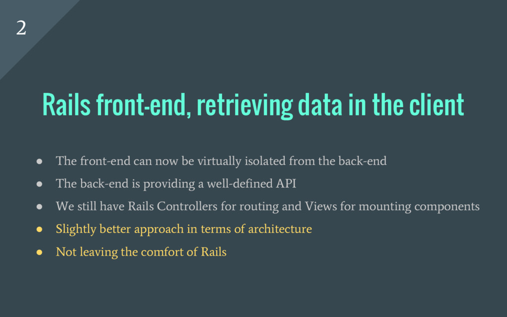 ● The front-end can now be virtually isolated f...