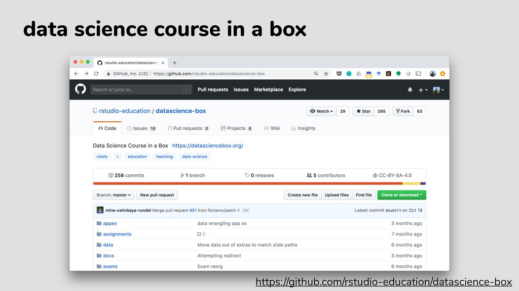 data science course in a box https://github.com...