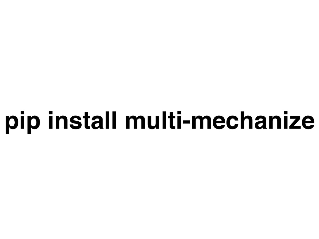 pip install multi-mechanize