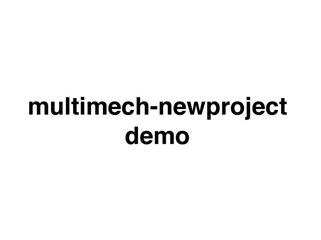 multimech-newproject demo