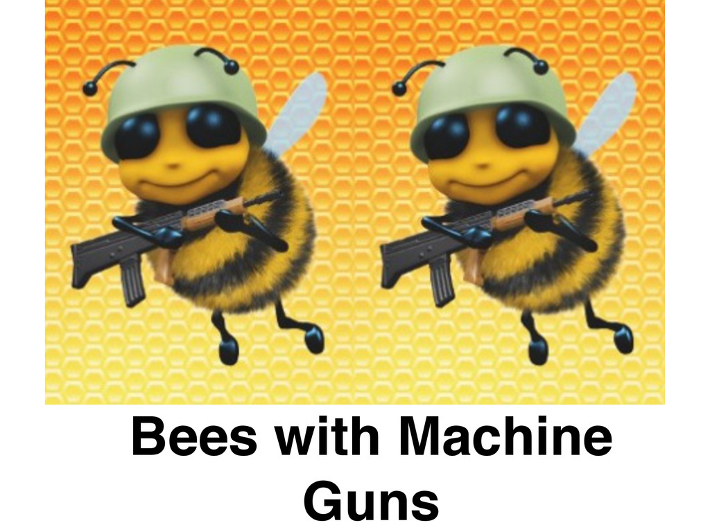 Bees with Machine Guns