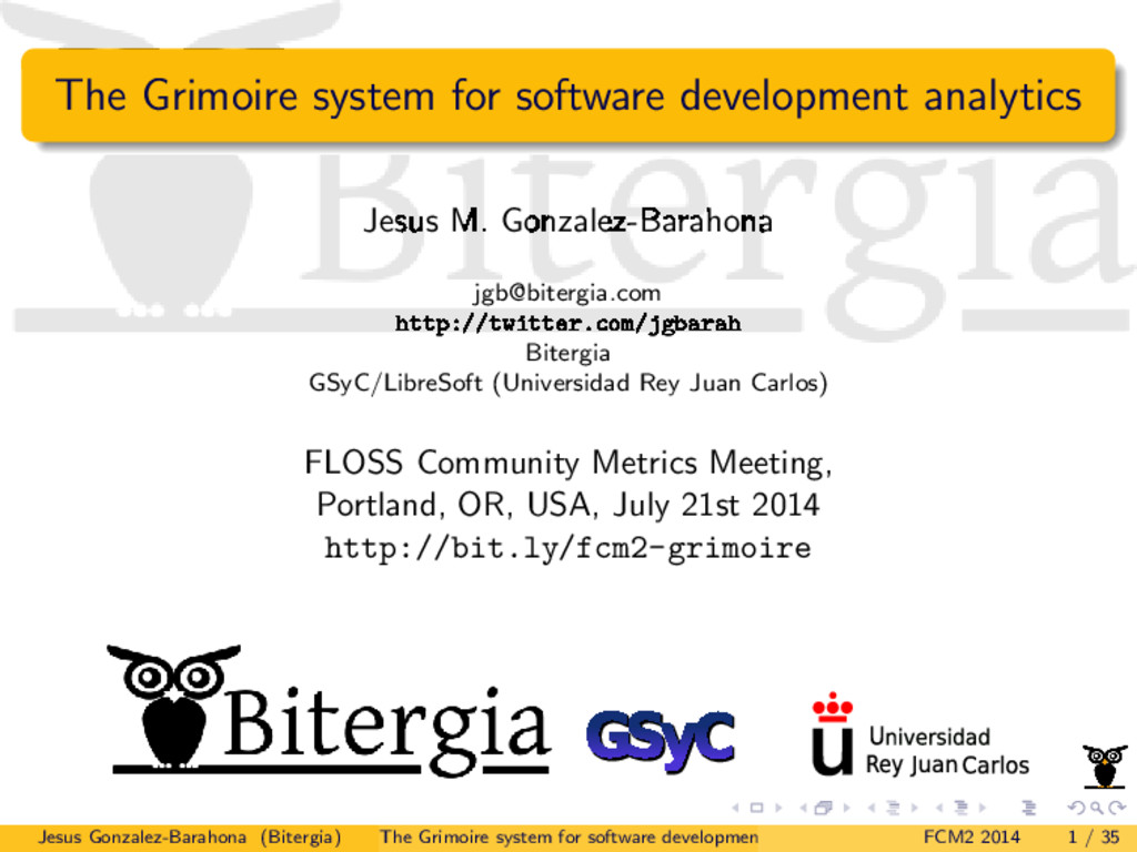 The Grimoire system for software development an...