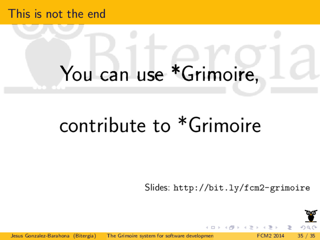 This is not the end You can use *Grimoire, cont...