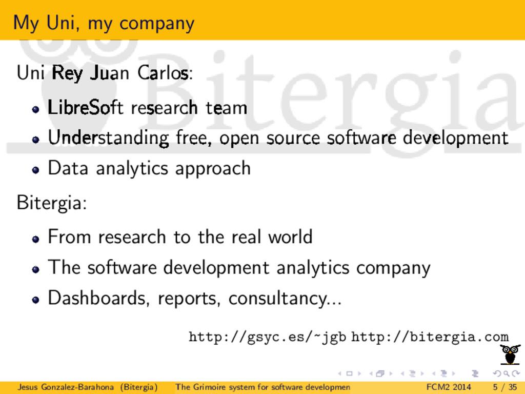 My Uni, my company Uni Rey Juan Carlos: LibreSo...