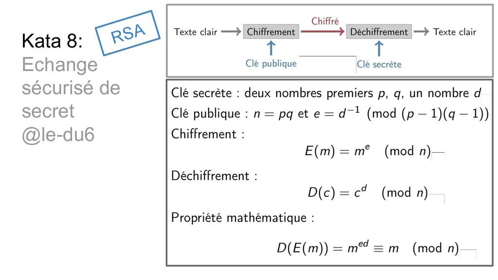 Kata 8: Echange sécurisé de secret @le-du6 RSA