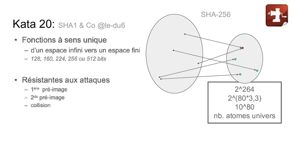 Kata 20: SHA1 & Co @le-du6 2^264 2^(80*3,3) 10^...