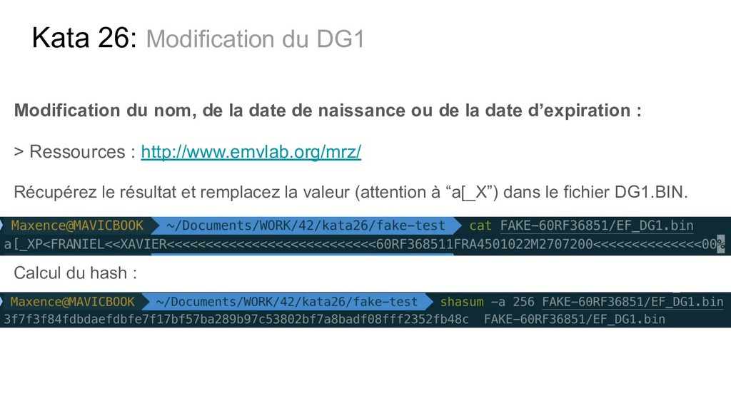 Kata 26: Modification du DG1 Modification du no...