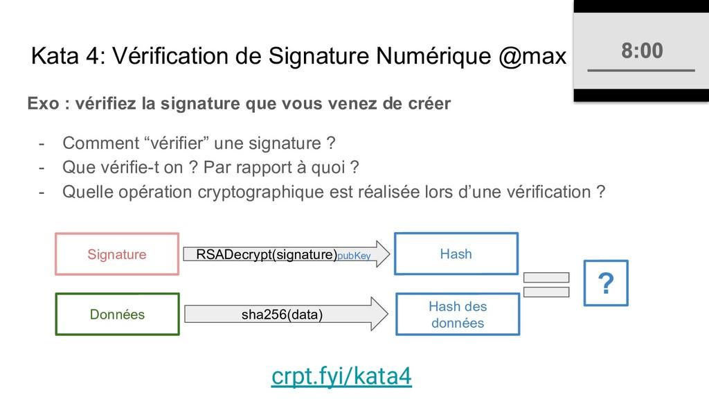 Kata 4: Vérification de Signature Numérique @ma...