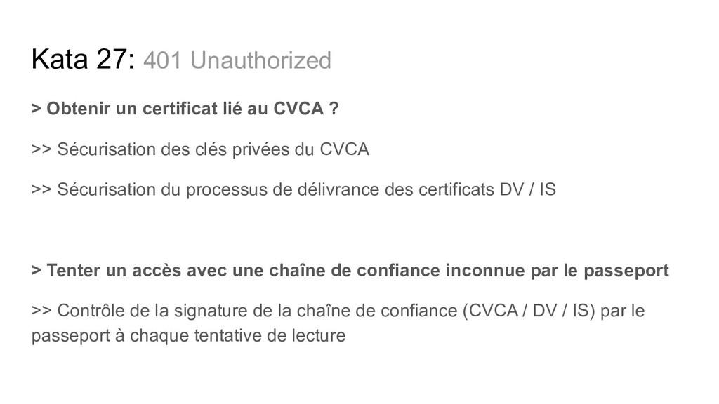 > Obtenir un certificat lié au CVCA ? >> Sécuri...