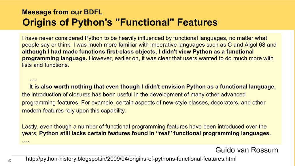 Message from our BDFL 18 http://python-history....