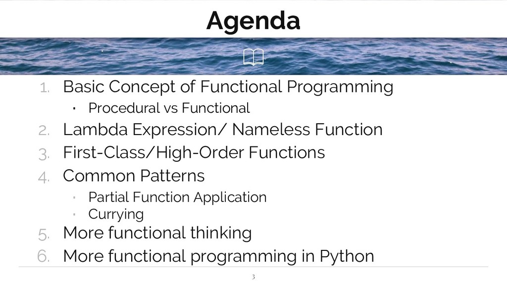 Agenda 1. Basic Concept of Functional Programmi...