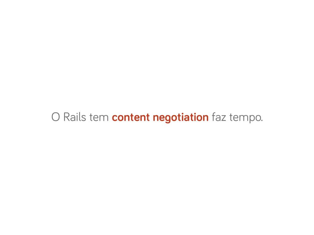 O Rails tem content negotiation faz tempo.