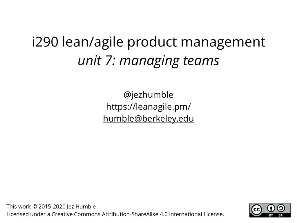 i290 lean/agile product management unit 7: mana...