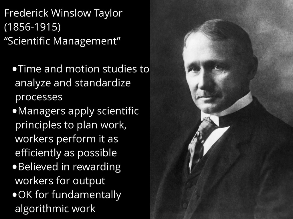 "Frederick Winslow Taylor (1856-1915) ""Scientific..."