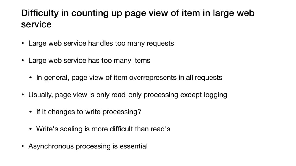 Difficulty in counting up page view of item in l...