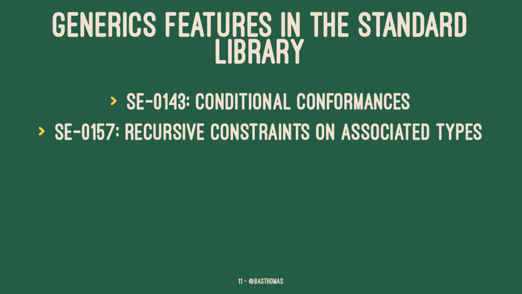 GENERICS FEATURES IN THE STANDARD LIBRARY > SE-...