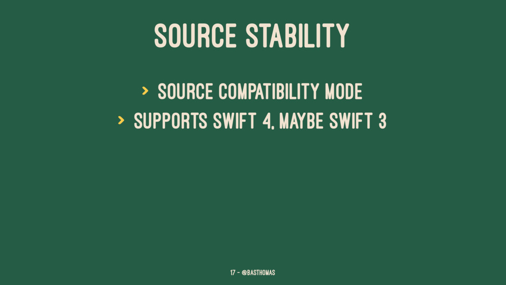 SOURCE STABILITY > Source compatibility mode > ...