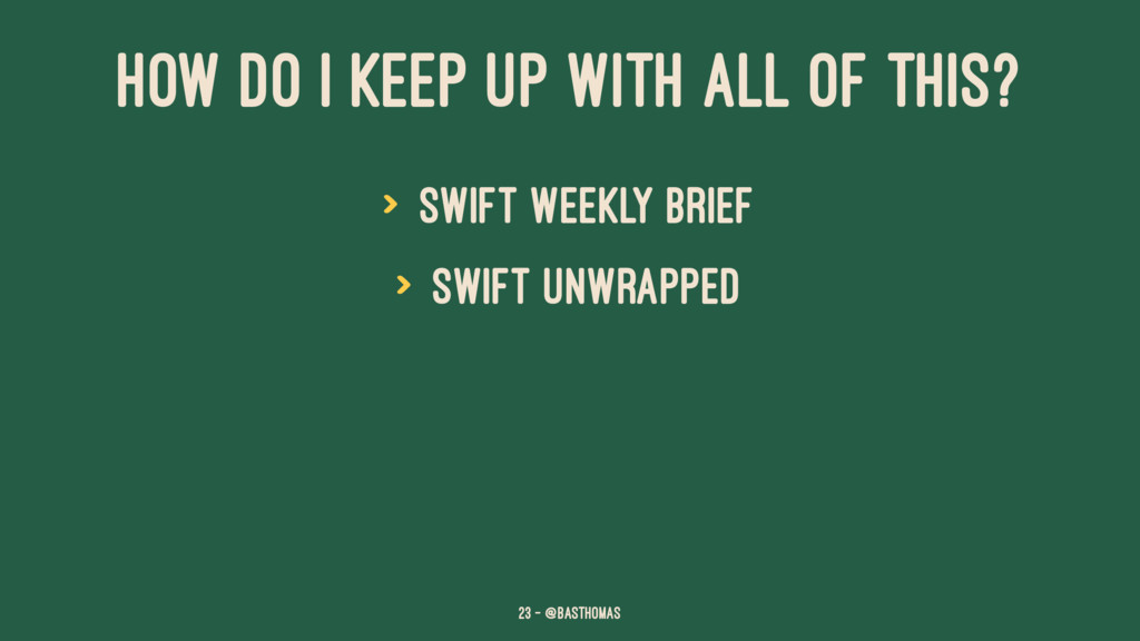 HOW DO I KEEP UP WITH ALL OF THIS? > Swift Week...