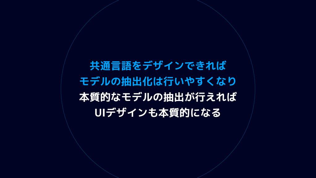 共通言語をデザインできれば モデルの抽出化は行いやすくなり 本質的なモデルの抽出が行えれば U...