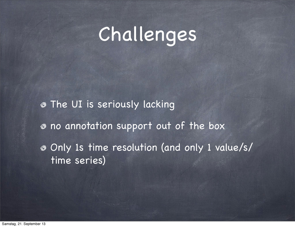 Challenges The UI is seriously lacking no annot...