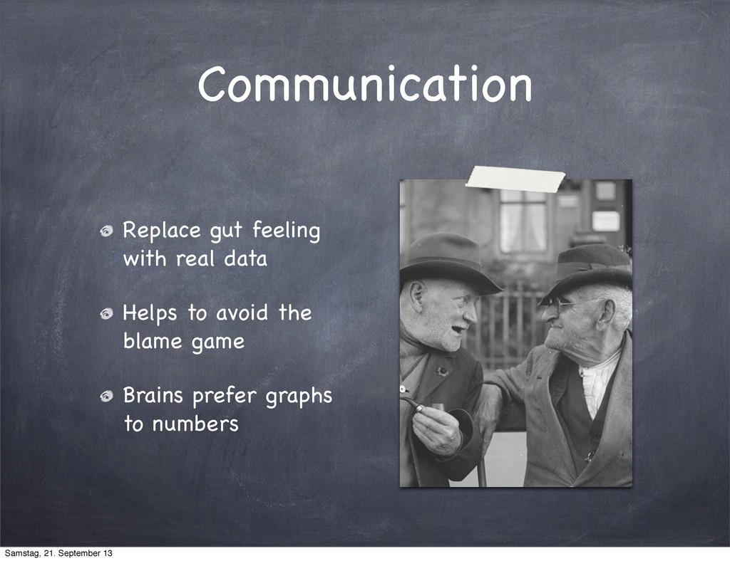 Communication Replace gut feeling with real dat...