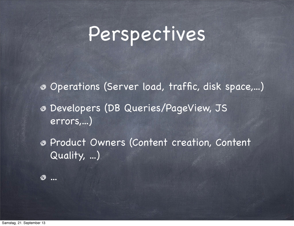 Perspectives Operations (Server load, traffic, d...